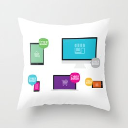 Cyber Monday Orders Throw Pillow