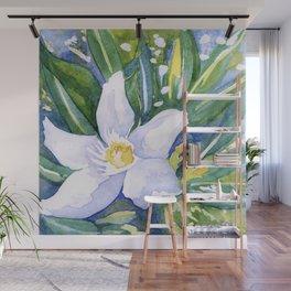 Tropical Flower Watercolor Wall Mural