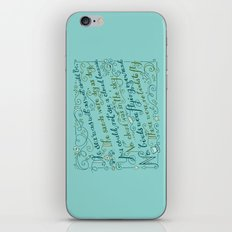 The Walrus and the Carpenter, Stanza 3 iPhone & iPod Skin