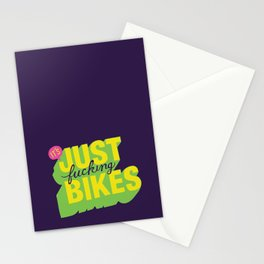 It's Just Fucking Bikes. Stationery Cards