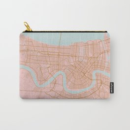 New Orleans map, Lousiana Carry-All Pouch