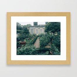 Grey Boboli Gardens Framed Art Print