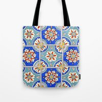 italian Tote Bags featuring Italian Tiles by PeriwinklePeacoat