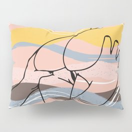 The Waves Of Sex, Erotic Lovers Art, Minimalist Sex Illustration, Modern Sex Pose Line Drawing Pillow Sham