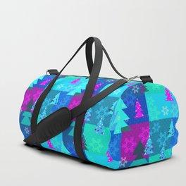 Bright blue Christmas Duffle Bag