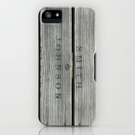 Old wooden box from overseas iPhone Case