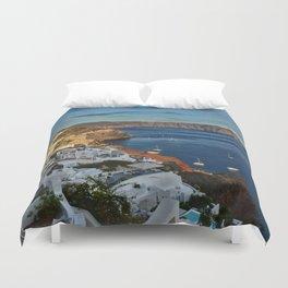 Oia,Santorini i Duvet Cover