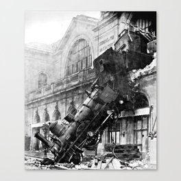 Train wreck at Montparnasse Station (1895) Canvas Print