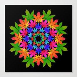 Cannabis Indica Leaf Mandala Canvas Print