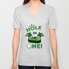 Funny Golf Gift Golfer Golfing Hole In One Unisex V-Neck