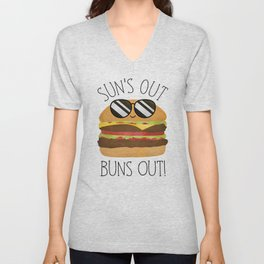 Sun's Out Buns Out! Unisex V-Neck