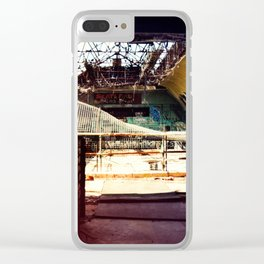 Burnt Out at the Skate Park Clear iPhone Case