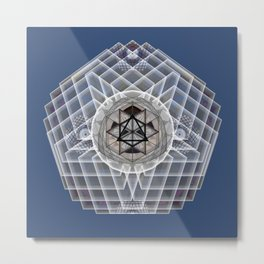 Merkaba Crown Chakra Meditation Mandala Metal Print