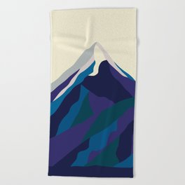 Mount Everest in Blue Beach Towel