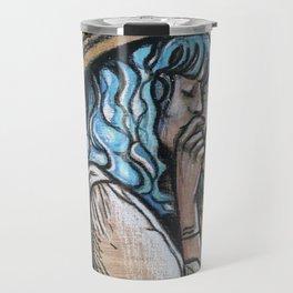 Wooden cowgirl Travel Mug