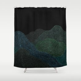 """Original Painting """"A Day at the Schwarzwald"""" Shower Curtain"""