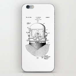 patent art Browne 1945 Diving suit iPhone Skin