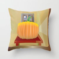 pumpkin Throw Pillows featuring Pumpkin by smoothimages