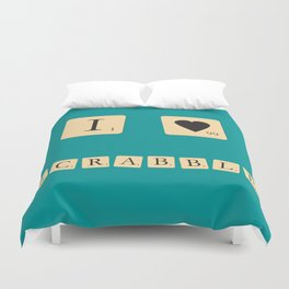 I heart Scrabble Duvet Cover