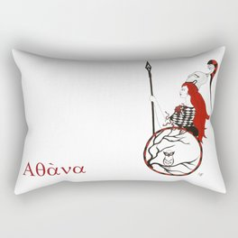 The Lady Athena, Goddess of Wisdom and War Rectangular Pillow