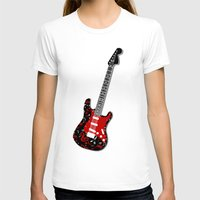 music notes T-shirts featuring Music Notes Electric Guitar by GBC Design
