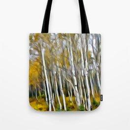 Yellow Aspens 1 by Leslie Harlow Tote Bag