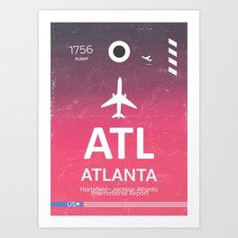 ATL Hartsfield–Jackson Atlanta International Airport Art Print