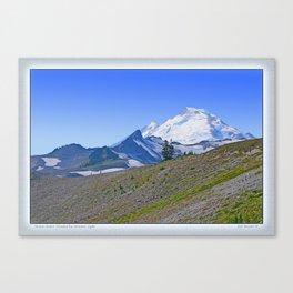 MOUNT BAKER FLOODED BY SUMMER LIGHT Canvas Print