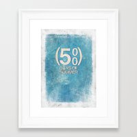 500 days of summer Framed Art Prints featuring 500 Days Of Summer by Alex Malyon