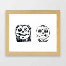 jack and sally Framed Art Print