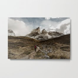 Hiking Torres Del Paine Metal Print
