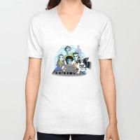 fringe V-neck T-shirts featuring Fringe Zoinks Gene by Zinggia