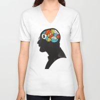 heisenberg V-neck T-shirts featuring Heisenberg by Wharton