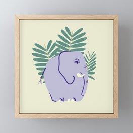 Fern Elephant Framed Mini Art Print