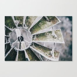 Windmill in Frost Canvas Print