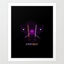 K-POP Beat Art Print