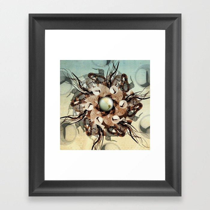 viper in the mix Framed Art Print