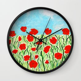 Everything's Popping Up Poppies! Wall Clock