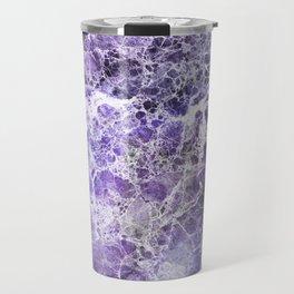 Organic Purple Abstract Marble Travel Mug