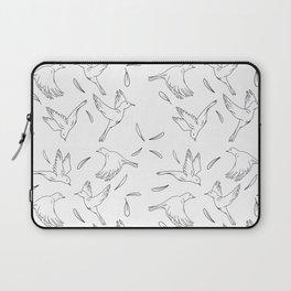 Little Birds Pattern Hand Drawn Minimal Art  Laptop Sleeve