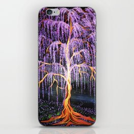Electric Wisteria Willow Tree iPhone Skin