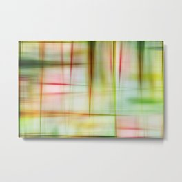 Abstract Plaid Quilt Metal Print
