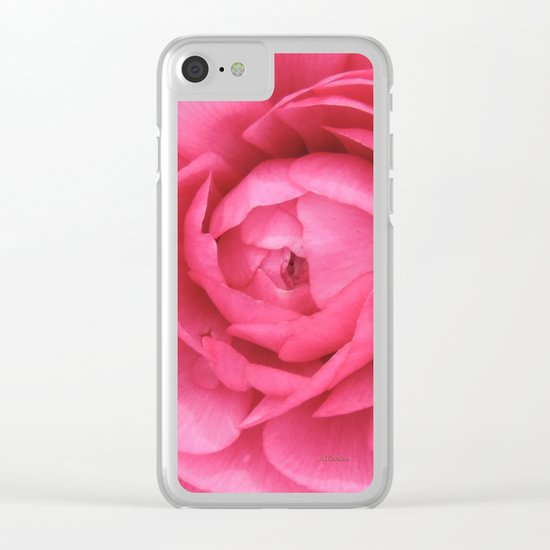 Petals in the Pink Clear iPhone Case
