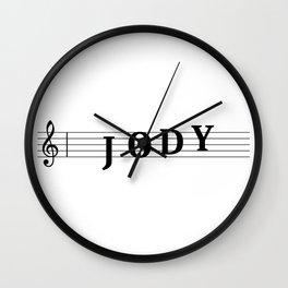 Name Jody Wall Clock