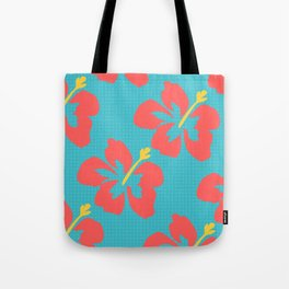 Flowers illustrated (light blue background) Tote Bag