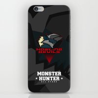 monster hunter iPhone & iPod Skins featuring Monster Hunter All Stars - Howling Devils by Bleached ink