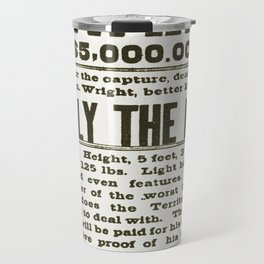 Wanted poster for Billy the Kid Travel Mug