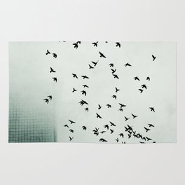 Fog and Feathers Rug