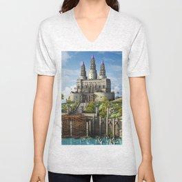 Fantasy Castle2 Unisex V-Neck