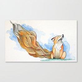 *Fox Noises* Canvas Print